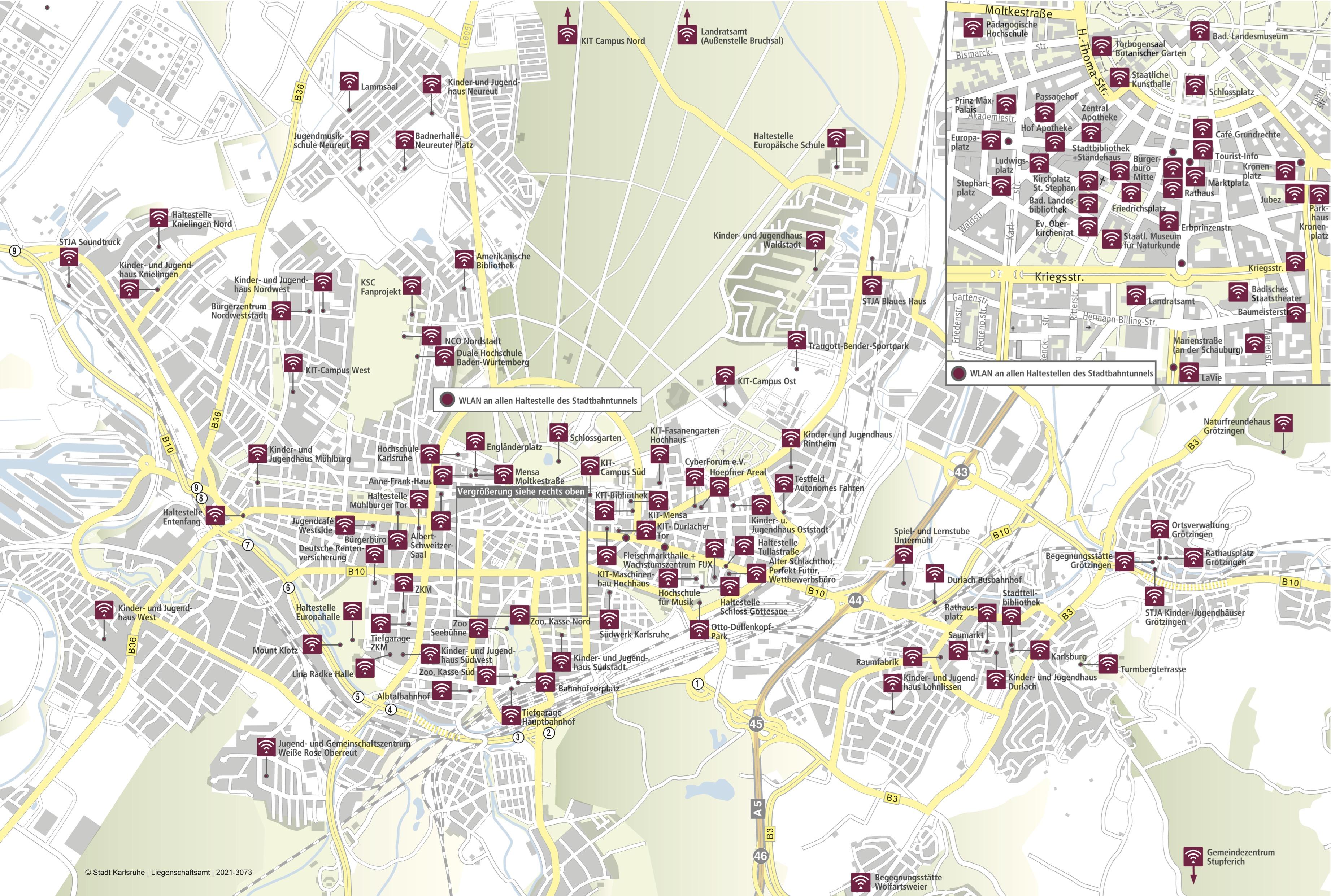 Karte Karlsruhe.Ka Wlan Info
